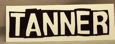 TANNER - Self Titled (white sticker) - Sticker