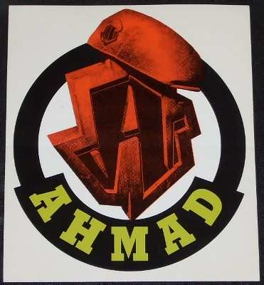 AHMAD - Self Titled Ahmad - Sticker
