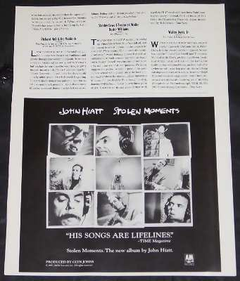 Hiatt,  John Stolen Moments
