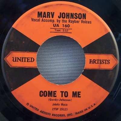 JOHNSON,  MARV - Come To Me / Whisper - 7inch x 1