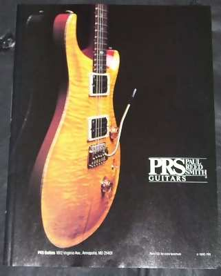 PRS PAUL REED SMITH GUITARS - 1990 Musician Trade Ad - Autres
