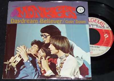 monkees daydream believer / goin down w/ps