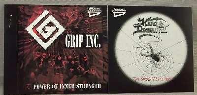 GRIP INC. & KING DIAMOND - Power Of Inner Strength &  Spiders Lullabye - Sticker
