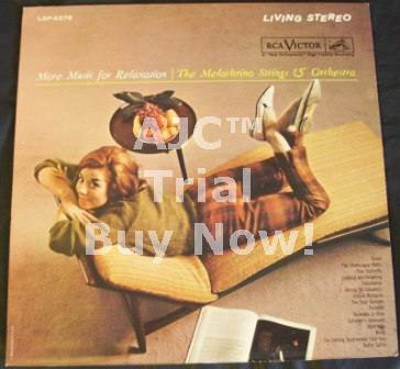 MELACHRINO STRINGS & ORCHESTRA - More Music For Relaxation - 33T