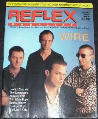 REFLEX MAGAZINE - 8/88 Wire, Devo & Colin Newman with Flexi Disc - Magazine
