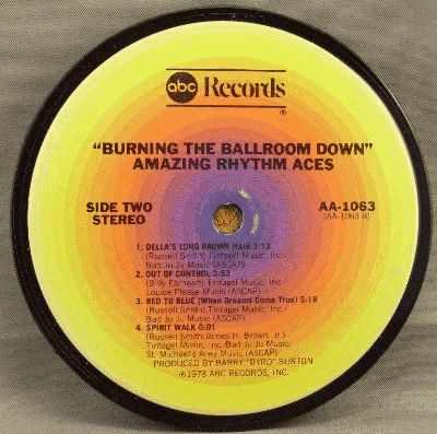 AMAZING RHYTHM ACES - Burning The Ballroom Down - Sous-Boque