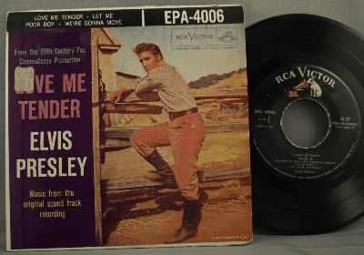 Presley, Elvis - Love Me Tender Vinyl 45 7 EP W/PS - Click Image to Close