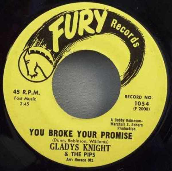KNIGHT,  GLADYS - You Broke Your Promise / Letter Full Of Tears - 45T x 1