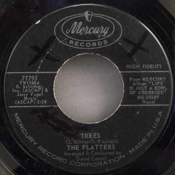 PLATTERS - Trees / Immortal Love - 45T x 1
