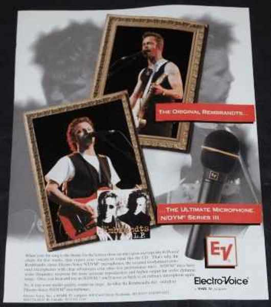 REMBRANTS - Rembrants Electro Voice Steve Wariner Musician Trade Ad - Autres