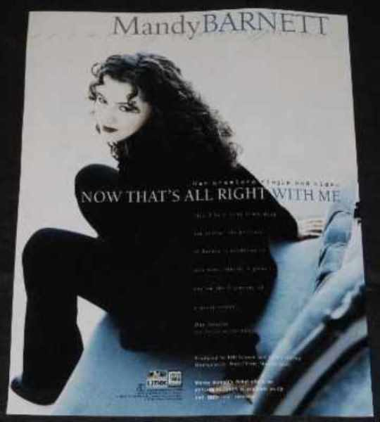 BARNETT,  MANDY - Now That's All Right With Me - Autres