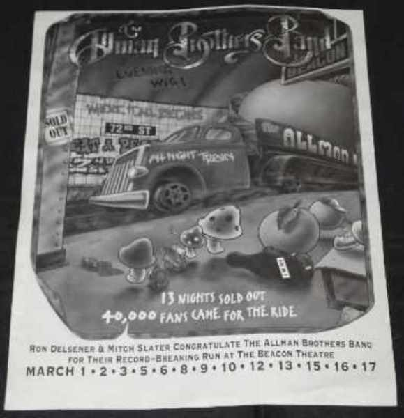 ALLMAN BROTHERS - Allman Brothers Evening With Beacon NYC BillboardTrade Ad - Autres