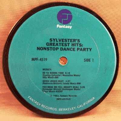 SYLVESTER - Sylvester's Greatest Hits Nonstop Dance Party - Sous-Boque