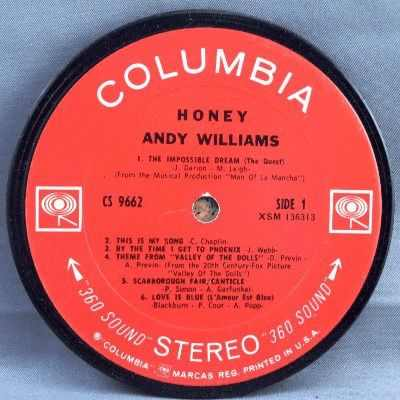 WILLIAMS,  ANDY - Honey - Drink Coaster