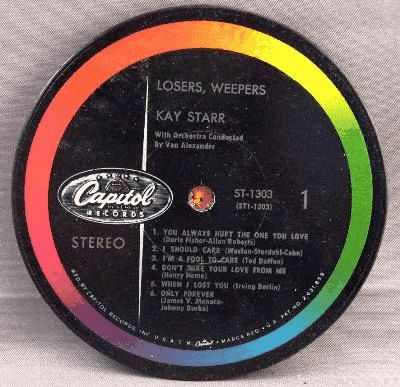 STARR,  KAY - Losers Weepers - Sous-Boque