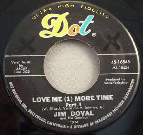 DOVAL,  JIM - Love Me One More Time Pts 1 & 2 - 45T x 1