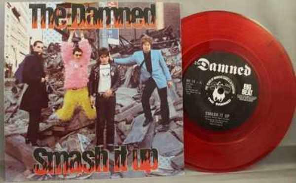 DAMNED - Smash It Up / Burglar  W/PS - 7'' 1枚