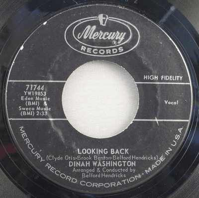 WASHINGTON,  DINAH - Looking Back / We Have Love - 45T x 1