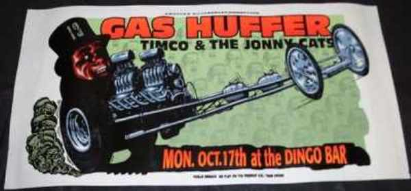 GAS HUFFER / TIMCO & THE JONNY CATS - Albuquerque N.M. Concert Poster - Poster / Affiche