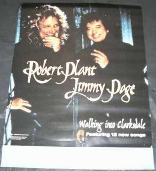 PLANT,  ROBERT & JIMMY PAGE - Walking Into Clarksdale Promo Poster - Poster / Affiche