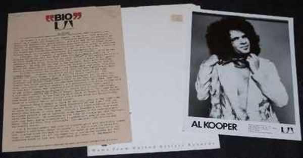 KOOPER,  AL - 1976 Promo Press Kit with Photo and Folder - Others