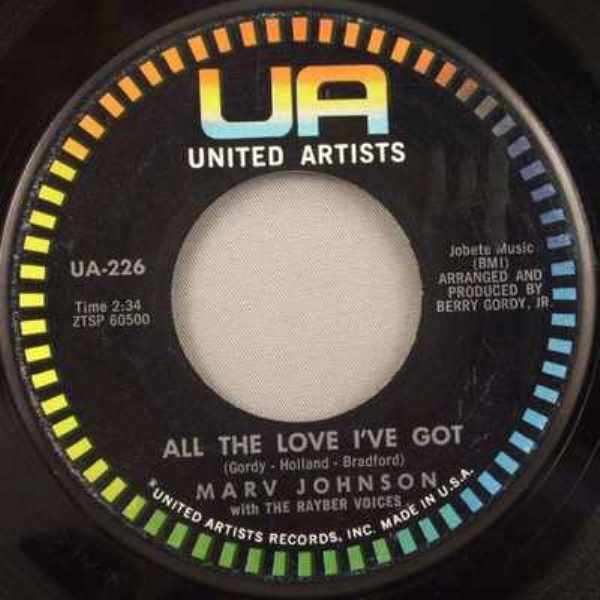 JOHNSON,  MARV - Ain't Gonna Be That Way / All The Love I've Got - 7inch x 1