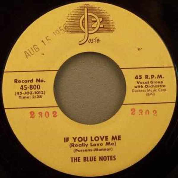 BLUE NOTES - If You Love Me / There's Something In Your Eyes Eloise - 7inch x 1