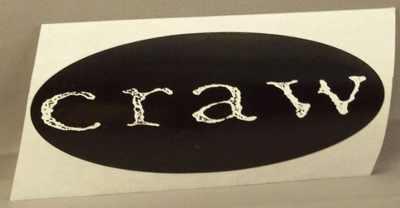 CRAW - Self Titled Craw - Sticker