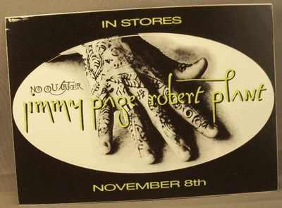 PAGE,  JIMMY & ROBERT PLANT - No Quarter - Sticker