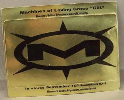 MACHINES OF LOVING GRACE - Gilt - Sticker