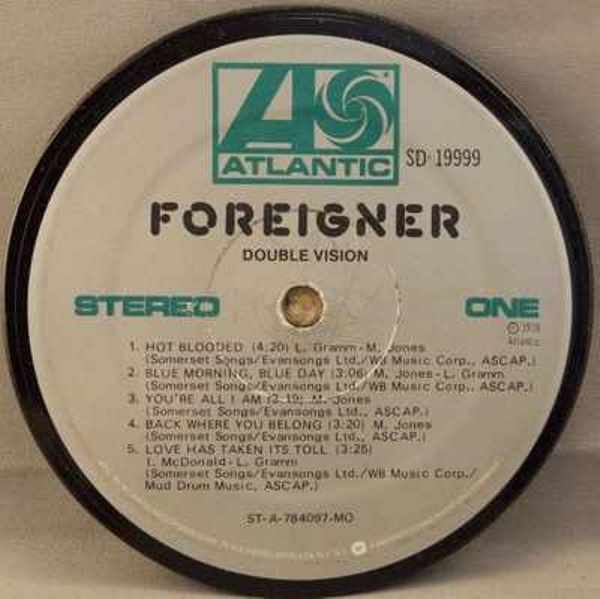 FOREIGNER - Double Vision - Drink Coaster