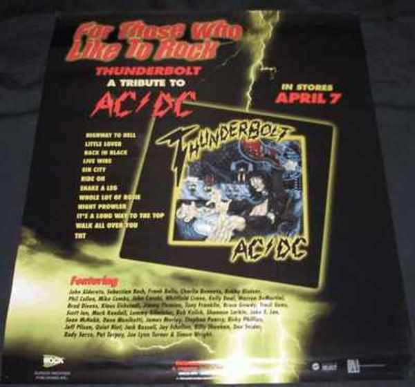 VARIOUS ARTISTS - Thunderstruck A Tribute To AC/DC - Poster / Affiche