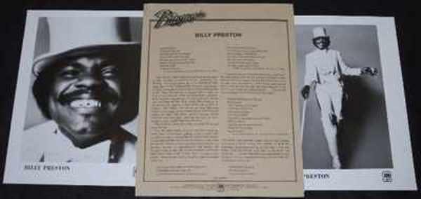 PRESTON,  BILLY - 1976 A&M Promo Press Kit W/Photos - Autres