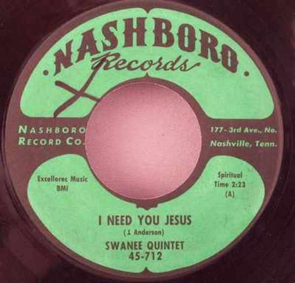 SWANEE QUINTET - One More River To Cross / I Need You Jesus - 7inch x 1