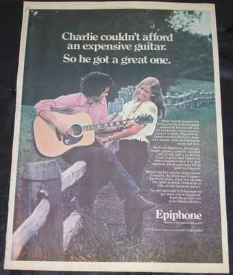 EPIPHONE GUITARS - 1974 Rolling Stone Magazine Ad - Autres