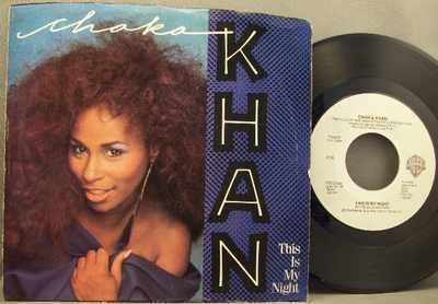 KHAN,  CHAKA - Caught In The Act / This Is My Night  W/PS - 7inch x 1