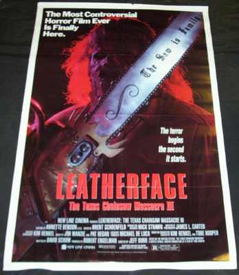SOUNDTRACK - Leatherface The Texas Chainsaw Massacre III Promo Poster - Poster / Affiche