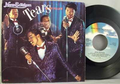 New Edition - Tears On My Pillow / Bring Back The Memories  W/PS - 45T