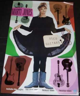 JONES,  MARTI - Used Guitars - ポスター