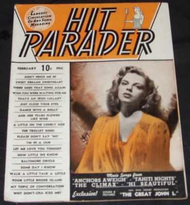 HIT PARADER MAGAZINE - February 1945 Vol. 3 No 4 Judy Garland - Magazine