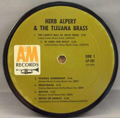 ALPERT,  HERB & THE TIJUANA BRASS - Self Titled Herb Alpert & The Tijuana Brass - Drink Coaster