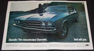 CHEVY - 1969 Chevelle SS 396 Sport Coupe 2 Page Magazine Ad - Autres