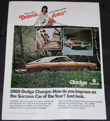 DODGE - 1969 Charger Magazine Ad - Others