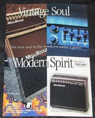 MESA BOOGIE AND RICKENBACKER - DC-5 and Vintage Reissue Magazine Ad 1993 - Autres