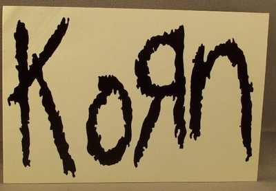 KORN - Self Titled Korn - Sticker