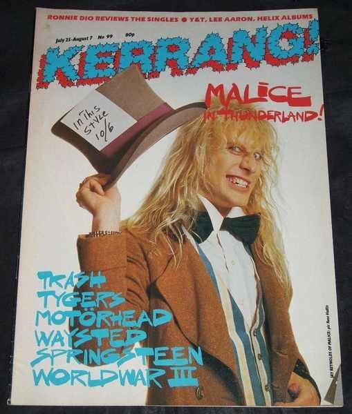 Kerrang Magazine No. 99 July 25 - August 7 1985  Malice