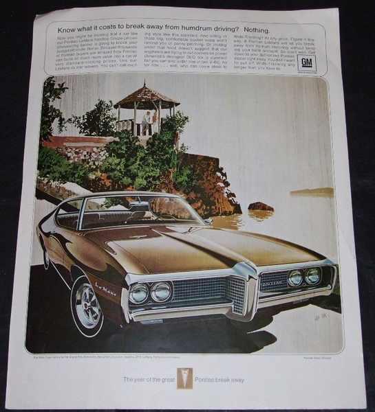 GENERAL MOTORS - 1969 Pontiac LeMans Magazine Ad - Autres