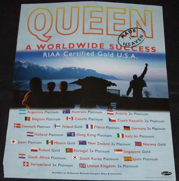 QUEEN - Made In Heaven Billboard Trade Ad - Autres