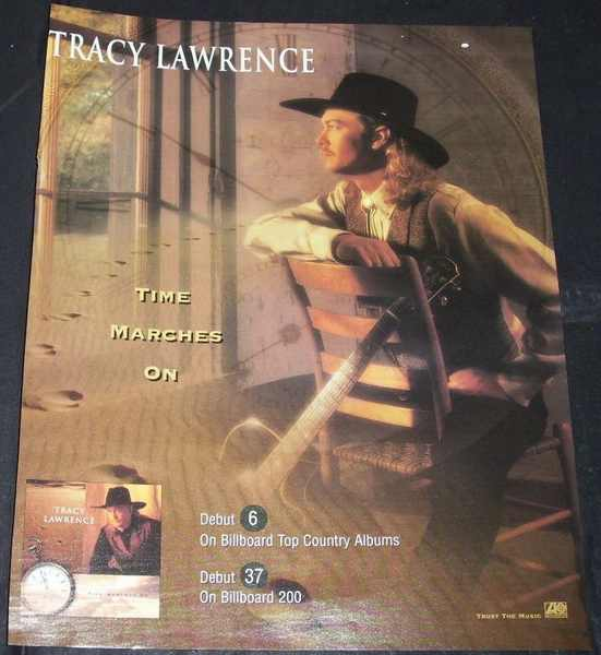 LAWRENCE,  TRACY - Time Marches On Billboard Trade Ad - Autres