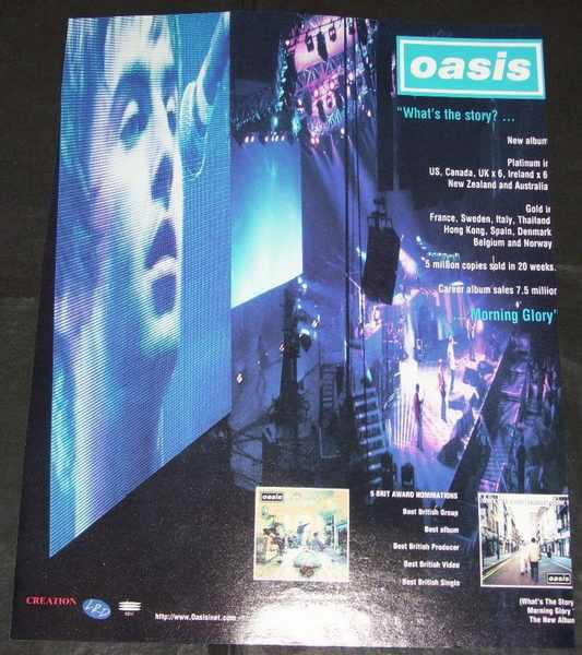 OASIS - What's The Story (Billboard Trade Ad) - Autres